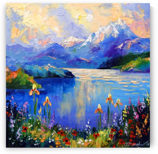Flowers by the lake by Olha Darchuk