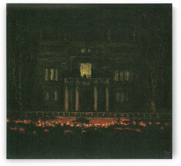 Torches by Franz von Stuck by Franz von Stuck