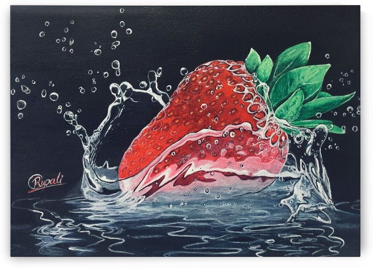 Strawberry painting  by Rupali Lakhote