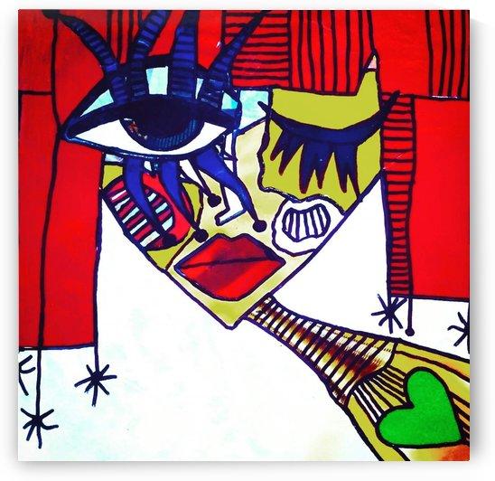 Red Warhol by Bratty ART