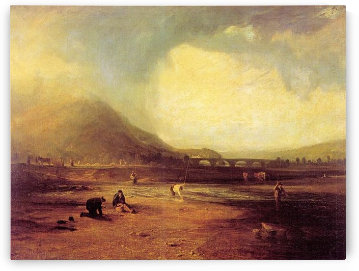 Trout fishing by Joseph Mallord Turner by Joseph Mallord Turner