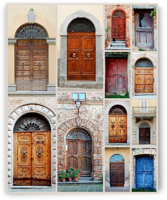 Italian Wooden Doors Collage by Dorothy Berry-Lound