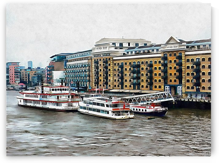 Butlers Wharf Area London by Dorothy Berry-Lound
