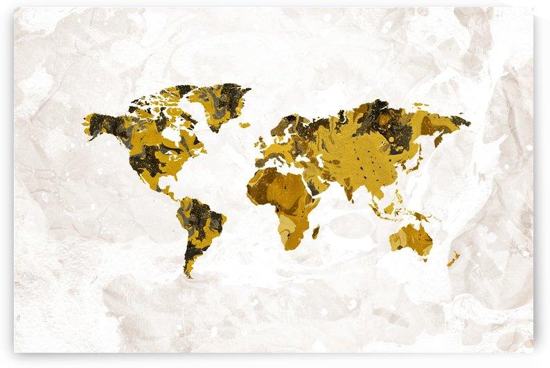 Artistic World Map IV by Art Design Works