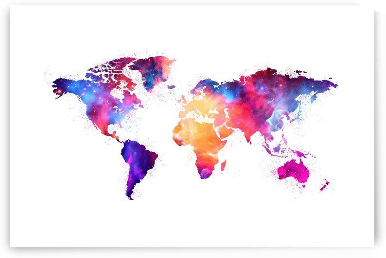Artistic World Map V by Art Design Works