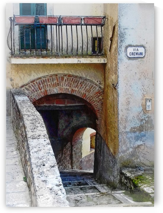 Via Cremani Archways Cetona Tuscany by Dorothy Berry-Lound