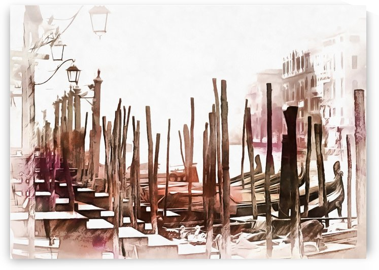 Misty Morning in Venice Painted Effect by Dorothy Berry-Lound