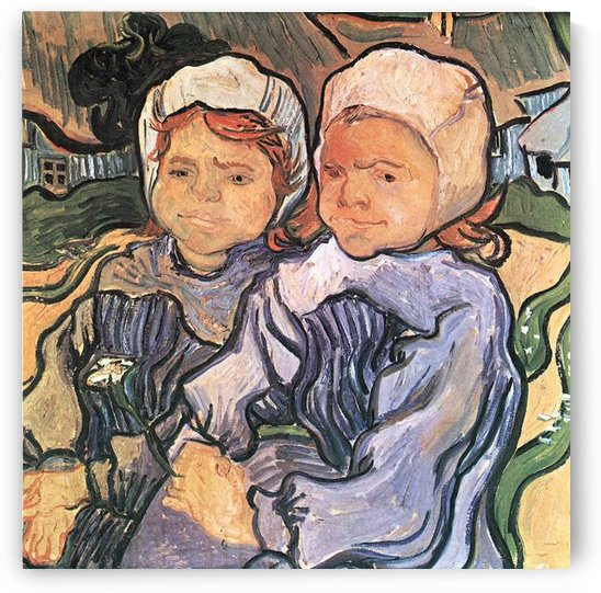 Two Children -1- by Van Gogh by Van Gogh