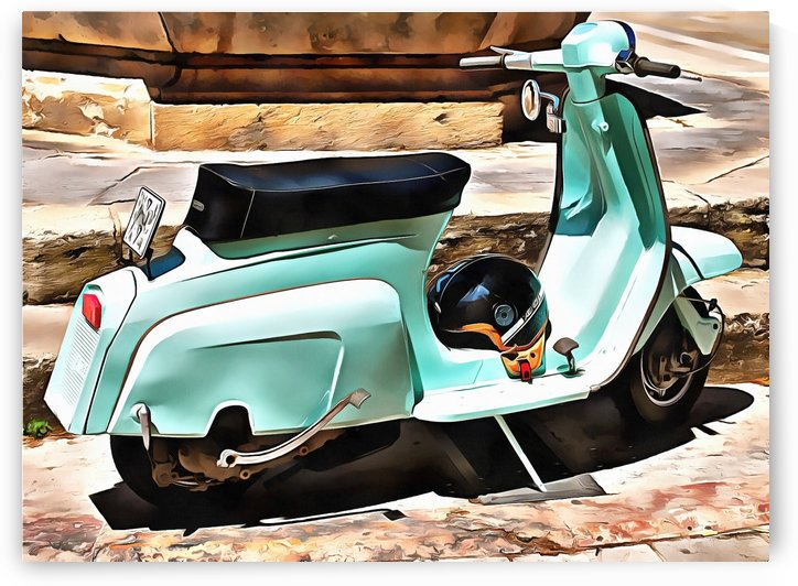 The Blue Lambretta by Dorothy Berry-Lound