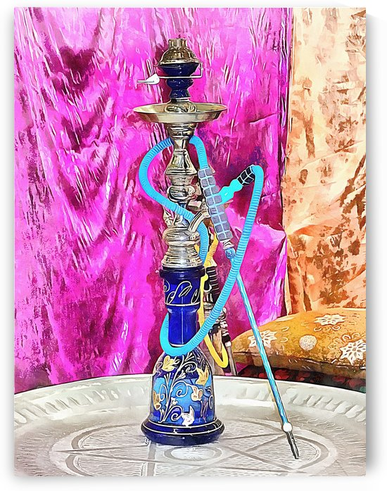 Exotic Oriental Hookah Pipe by Dorothy Berry-Lound