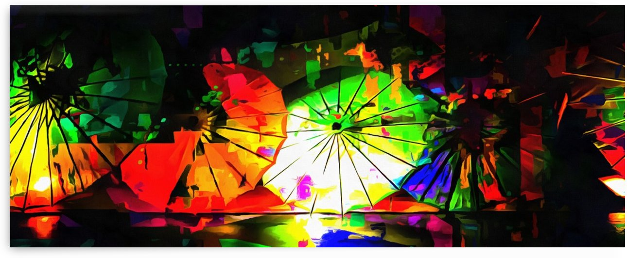 Oriental Parasols Abstract by Dorothy Berry-Lound