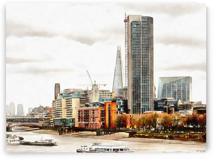 South Bank River Thames by Dorothy Berry-Lound