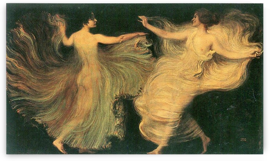 Two dancers by Franz von Stuck by Franz von Stuck