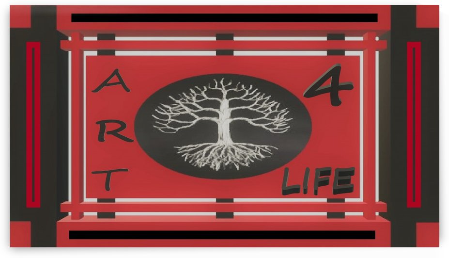 ART 4 LIFE UNIVERSAL WAR FLAG by KING THOMAS MIGUEL BOYD