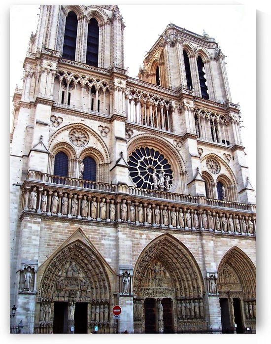 The Towers West Facade Notre Dame Paris by Deb Oppermann