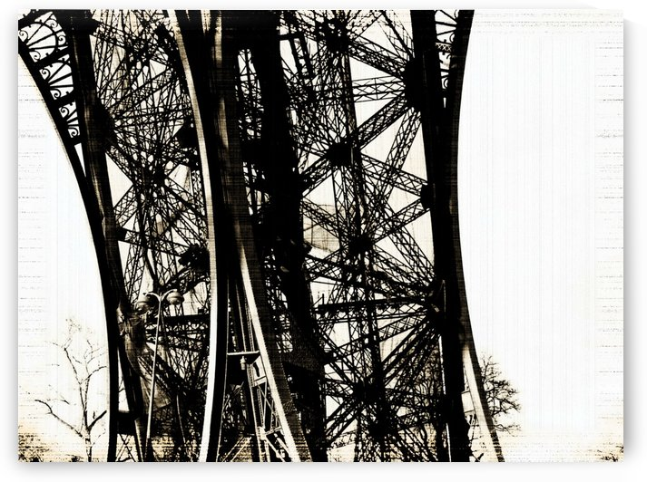 Vintage Eiffel Tower I by Deb Oppermann