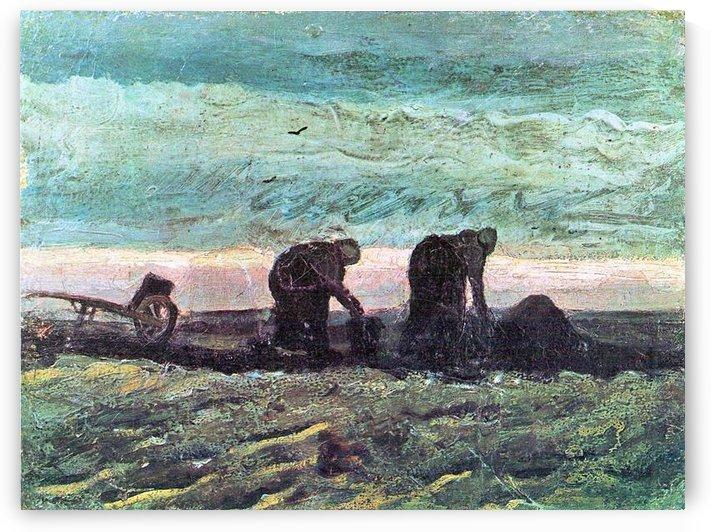 Two farmers by Van Gogh by Van Gogh