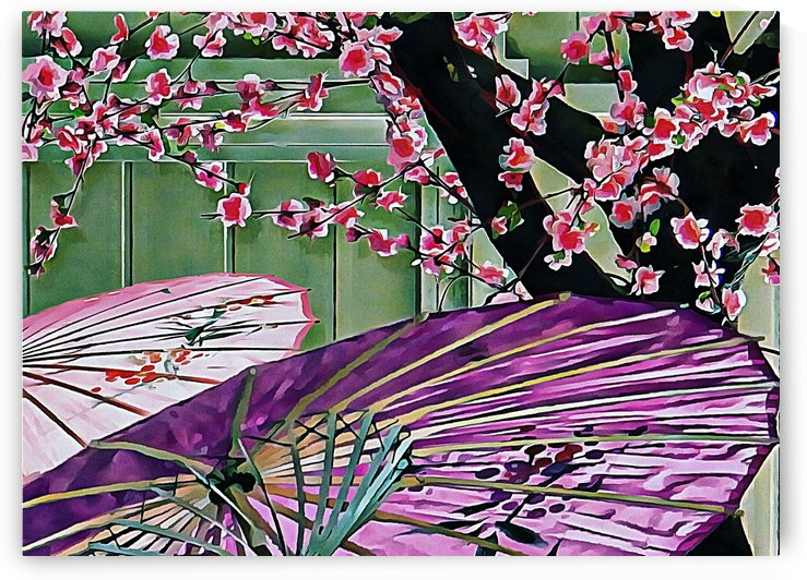 Cherry Blossom Parasols by Dorothy Berry-Lound