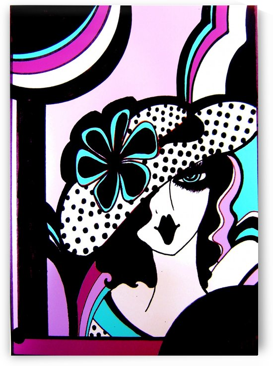 ART DECO OP ART DOLLY GIRL by jacqueline mcculloch
