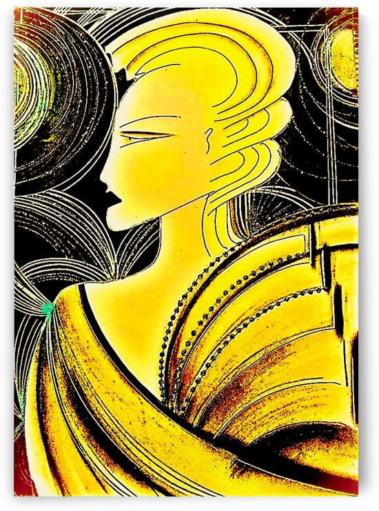 THE ART OF DECO IN YELLOW by jacqueline mcculloch