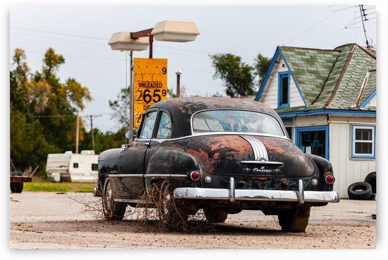 1950 Pontiac Runs Collects Weeds by Garald Horst