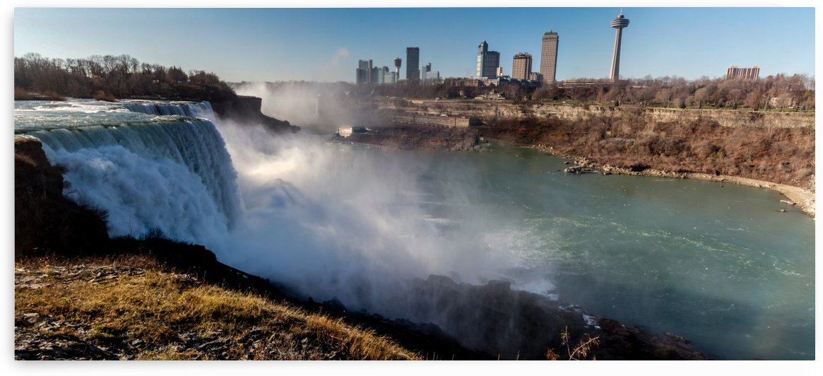 Niagara Falls Mist Panorama by William Norton Photography