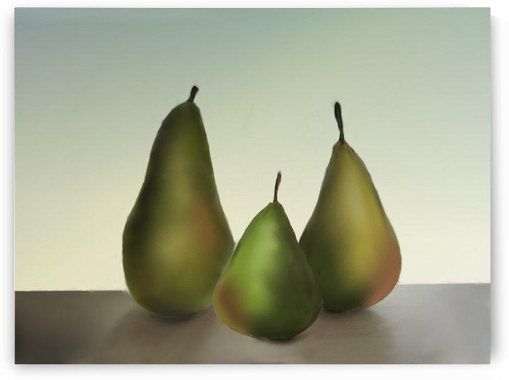 Three Pears by ANA BORRAS