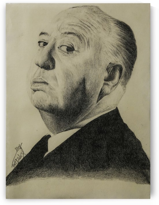 Alfred Hitchcock  by Tpencilgallery