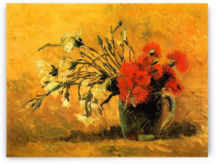 Vase with Carnations by Van Gogh by Van Gogh