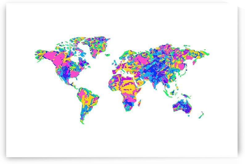 Artistic World Map VI by Art Design Works