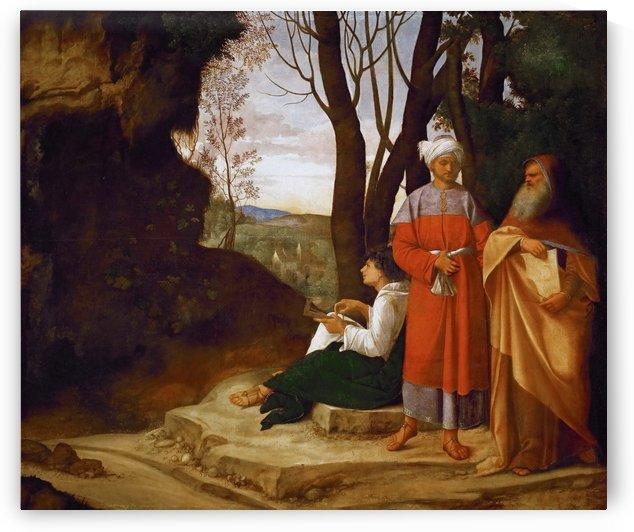 Three men by Giorgione