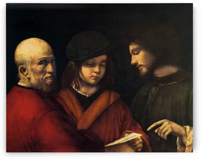 The three ages of man by Giorgione