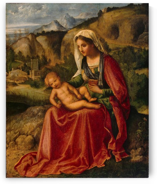 Virgin and the child in a landscape by Giorgione