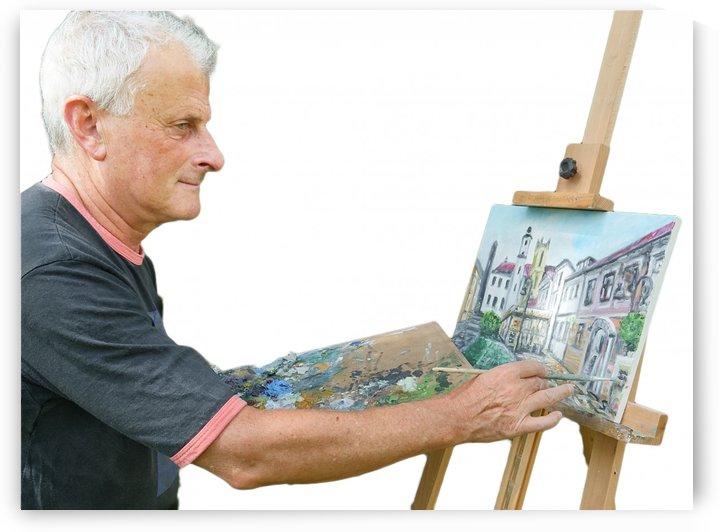 Tomas Strelinger Slovak  Artist painting in Oil by Edwin John