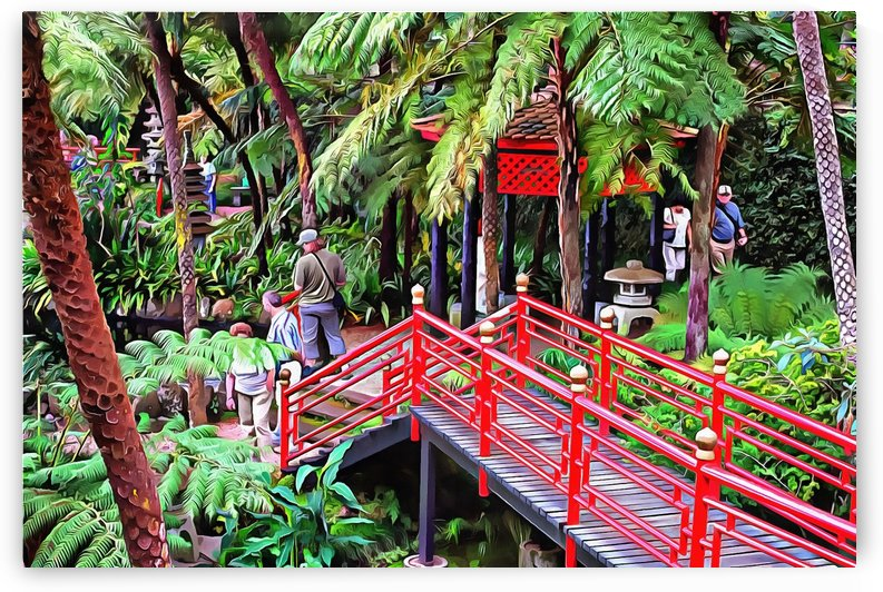 Oriental Gardens Madeira 1 by Dorothy Berry-Lound