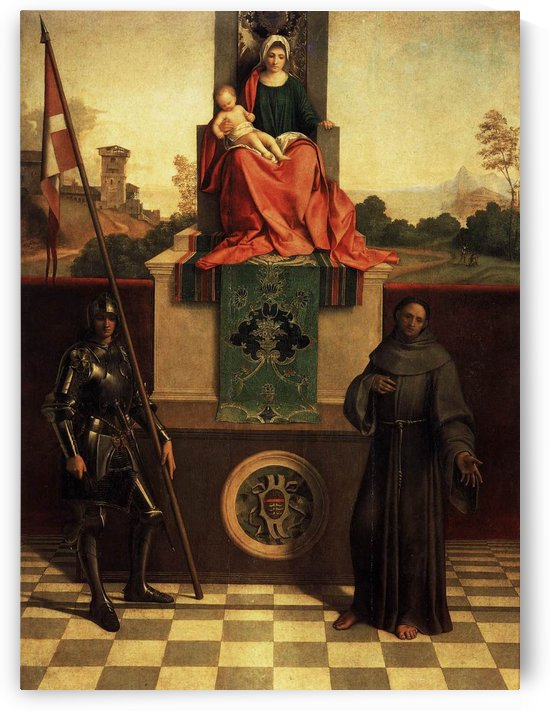 Madona and child with Saint Francis by Giorgione
