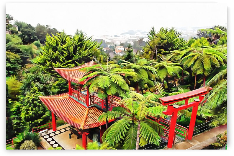 Oriental Gardens Madeira 4 by Dorothy Berry-Lound