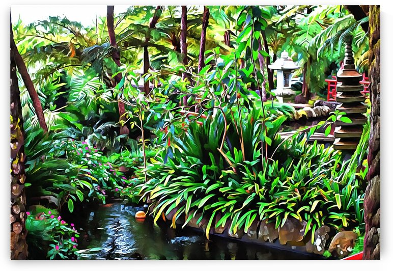 Oriental Gardens Madeira 9 by Dorothy Berry-Lound
