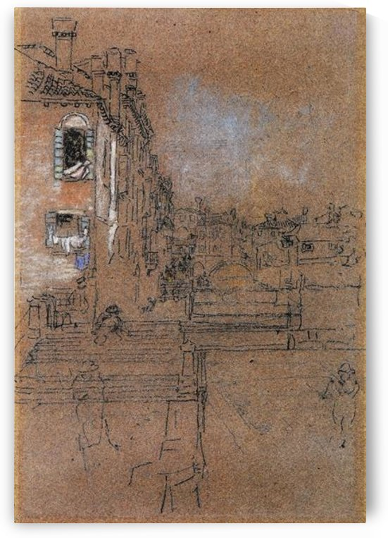 Venetian canal by Whistler by Whistler