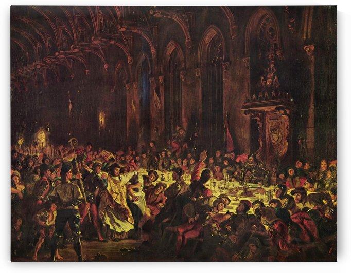 Ermordung des Bischofs von Luttich by Eugene Delacroix