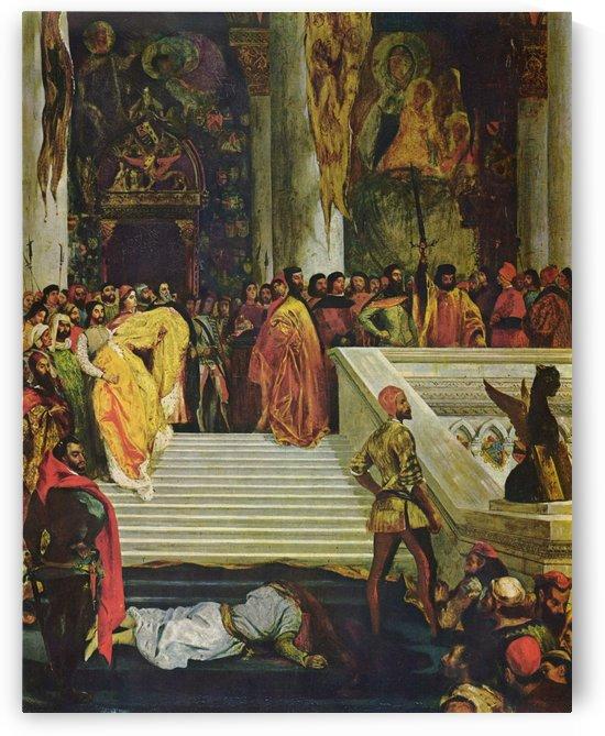 Hinrichtung des Dogen by Eugene Delacroix