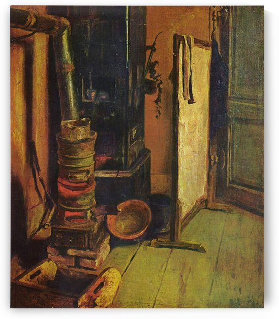 Eine Ecke des Ateliers by Eugene Delacroix