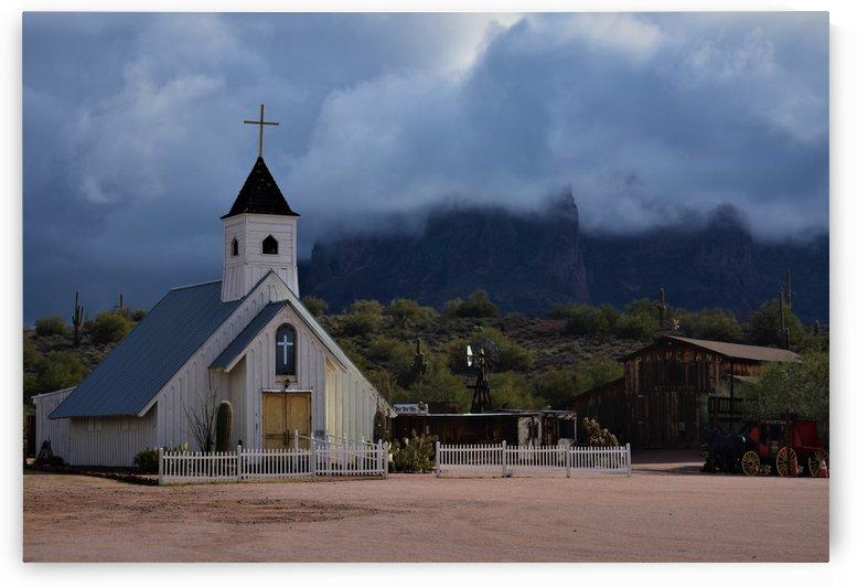 Rural Western Church by Eric Schmitz