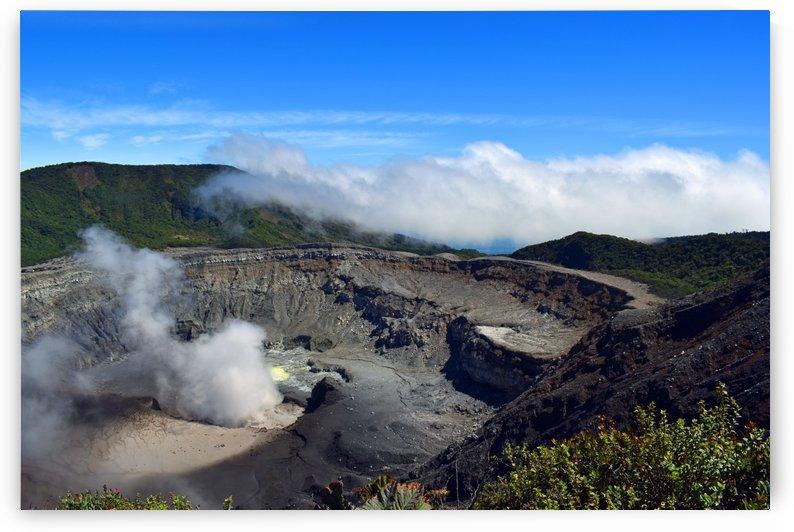Poas Volcano Costa Rica by Senthia Sanders