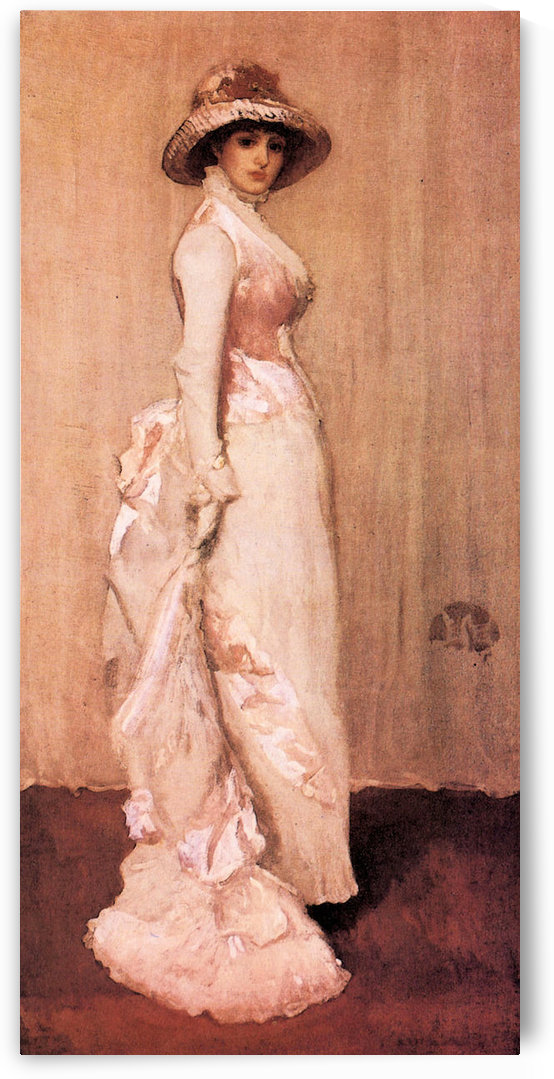 Nocturne in pink and gray, Portrait of Lady Meux by James Abbot McNeill Whistler by James Abbot McNeill Whistler