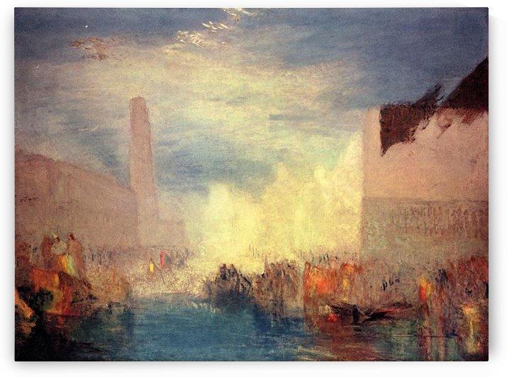 Venice, the Piazetta by Joseph Mallord Turner by Joseph Mallord Turner