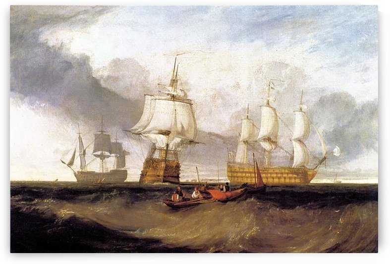 Victory in Trafalgar by Joseph Mallord Turner by Joseph Mallord Turner