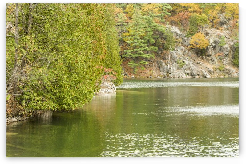 Autumn on Pink Lake 4 by Bob Corson