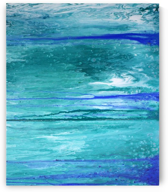 Abstract in Blues and Greens by Julie Hollis