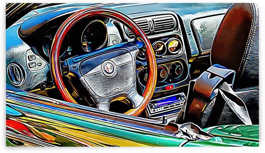 Alfa Romeo 2 Through the Window by Dorothy Berry-Lound